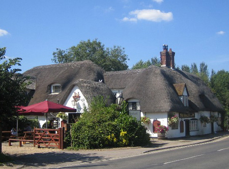 Barley Mow - Clifton Hampden - Oxfordshire - Jerome K. Jerome, Charles Dickens Jr., Peter Lovesey